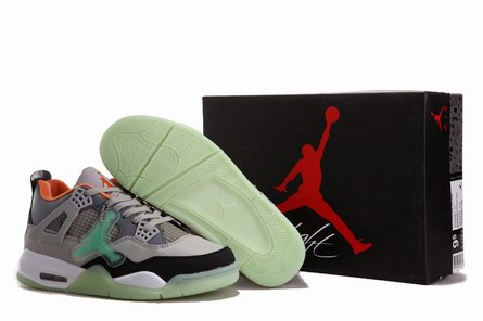 men jordan 4 night light shoes-001