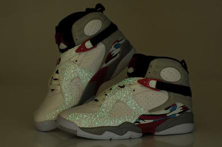 men jordan 8 night light shoes-001