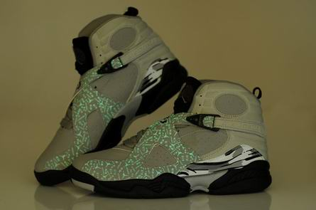 men jordan 8 night light shoes-005