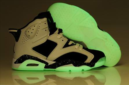 men jordan six night light shoes-002